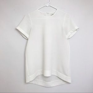 MADEWELL | White Short Sleeve Top Flowy Blouse XS